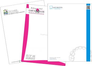Full color letterheads printing