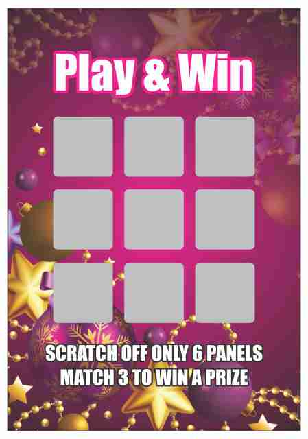 Scratch Off and Match any 3 to Win