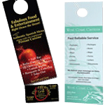Tear off door hangers printing